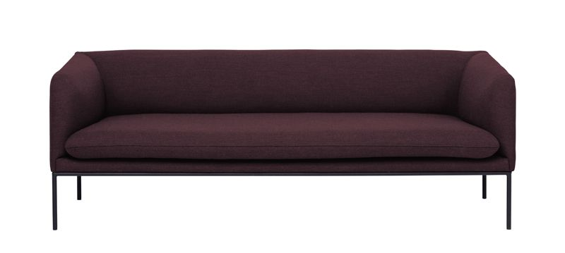 ferm LIVING - Turn Sofa 3 - Fiord - Solid Bordeaux